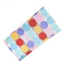 Pañuelo de Algodon Topos Multicolor 23x23cm