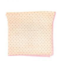 Pañuelo de Algodon Rosa Topos Marrones 23,5 x 23,5 cm