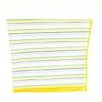 Pañuelo de Algodon Blanco Rayas Colores mod 2 23,5 x 23,5 cm