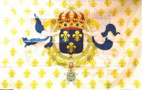 Bandera Escudo Naval Francés 1643-1745 90x150cm