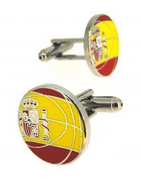 Gemelos de Camisa Balon Baloncesto Bandera España 18mm