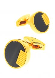 Gemelos para Camisa Nacar Negro Dorado 18mm