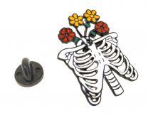 Pin de solapa Torso Esqueleto Floreado 34x25mm