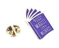 Pin de solapa Books Turn Muggles 31x16mm