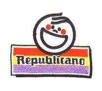 Parche Bordado Termoadhesivo Republicano 7x 5,5cm