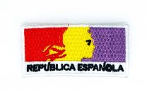 Parche Bordado Termoadhesivo Republica Española 6x3cm
