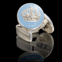Gemelos Skultuna Crown Azul Claro