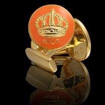 Gemelo Skultuna Crown Dorado Naranja