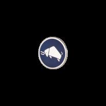 Broche de Solapa ALMAHISPANIABisonte Esmaltado en  Azul 18mm.