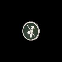 Broche de Solapa ALMAHISPANIA Quijote Esmaltado en Verde 18mm