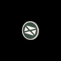 Broche de Solapa ALMAHISPANIA Aspa Tercios Esmaltado en Verde 18mm