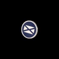 Broche de Solapa ALMAHISPANIA Aspa Tercios Esmaltado en Azul 18mm