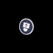 Broche de Solapa ALMAHISPANIA Carabela Esmaltado en Azul 18mm