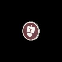 Broche de Solapa ALMAHISPANIA Carabela Esmaltado en Rojo 18mm