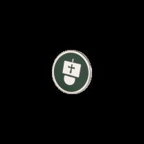 Broche de Solapa ALMAHISPANIA Carabela Esmaltado en Verde 18mm