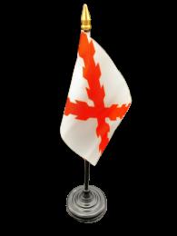 Bandera de Mesa Aspa de Borgoña 16x10cm