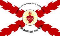 Bandera Detente de Bala Carlista con Aspa de Borgoña 150x90cm