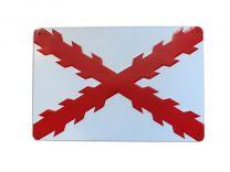 Placa decorativa de la Cruz de Borgoña bandera antigua de España