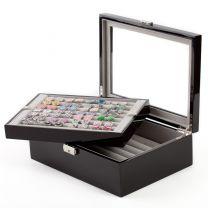 Caja de Coleccionista de Gemelos 70 pares Color Negro Piano