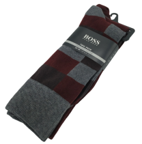 Twopack Hugo Boss RS Design Calcetines Lines Tonos Grises y Rojos 43-46
