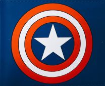 Cartera Logo Capitán América Azul