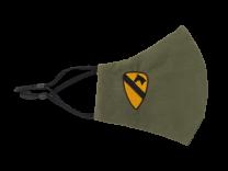 Mascarilla Reutilizable y ajustable de Algodón Color Verde Militar 1st Cavalry Division