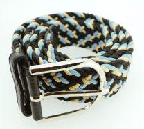 Cinturón Elástico Colores Marrón, Azul y Negro Talla Única
