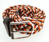 Cinturón Elástico Colores Marrón, Rojo, Blanco y Negro Talla Única