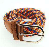 Cinturón Elástico Colores Marrón, Rojo y Azul Talla Única