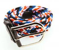 Cinturón Elástico Colores Morado, Blanco, Rojo, Azul y Negro Talla Única