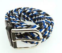 Cinturón Elástico Colores Negro, Azul y Blanco Talla Única