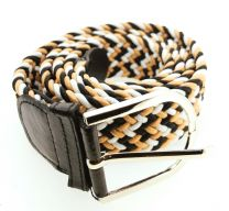 Cinturón Elástico Colores Negro, Marrón y Blanco Talla Única