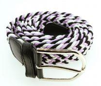 Cinturón Elástico Colores Negro, Morado y Blanco Talla Única