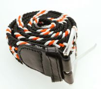 Cinturón Elástico Colores Negro, Rojo y Blanco Talla Única