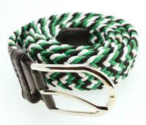 Cinturón Elástico Colores Negro, Verde y Blanco Talla Única