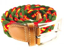 Cinturón Elástico Verde Colores España Talla 105
