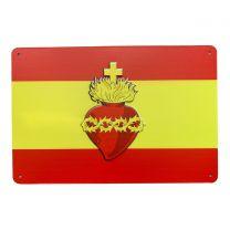 Placa decorativa para pared del Corazón de Jesús 29,8x20cm