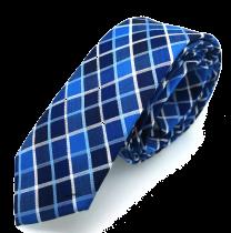 Corbata de Algodón Rombos Azules