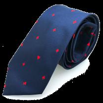 Corbata de Seda Azul Poker