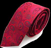 Corbata de Seda Granate con Cashmere Granate y Negro