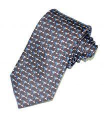 Corbata de Seda Twill Boston Azul Marino