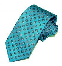 Corbata de Seda Twill Cartagena Azul Celeste