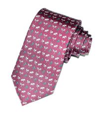 Corbata de Seda Twill El Cano Borgoña