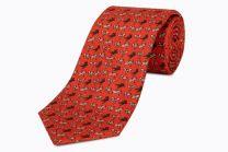Corbata de Seda Twill El Cano Roja