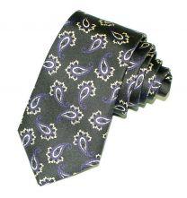 Corbata de Seda Twill Estampado Batapore Verde