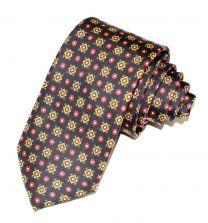 Corbata de Seda Twill Rodas Borgoña