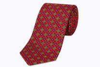 Corbata de Seda Twill Rodas Roja