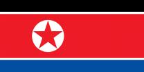 Bandera Corea del Norte 90x150cm