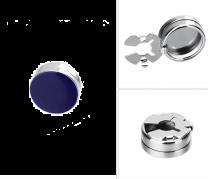 Cubrebotones de Camisa Azul Brillo 15mm