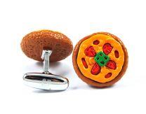 Gemelos para camisas Cracked Pepper Modelo Pizza Italiana